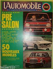 L'AUTOMOBILE n°328 ¤ 09/1973 ¤ CHEVROLET CAMARO Z28/MERCEDES 240D