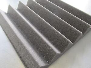 ACOUSTIC  FOAM WEDGE STYLE TILES 500mm x 500mm x 50mm (8 Tile Pack)