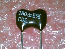 Silver Mica cap : 180PF 5% : 5pcs per lot