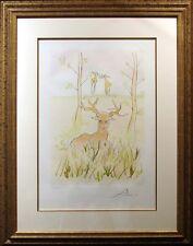 """Salvador Dali """"Le Cerf Malade""""Hand Signed by Dali framed Engraving, deer, L@@K!!"""