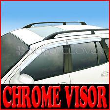 Chrome Window Visors Vent 4p For 01 02 03 04 05 06 Hyundai Santa Fe