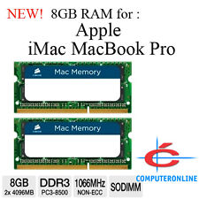 8GB 2X4GB DDR3 1066MHz SODIMM Mac RAM MEMORY for Apple iMac MacBook Pro