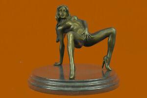 Nude Seductress Masturbating Bronze Sculpture Hot Cast Figurine Figure Home Sale