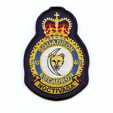 RCAF CAF Canadian 410 Squadron Heraldic Colour Crest Patch