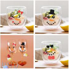 30 Snowman Face Hat Tie vinyl decals stickers Christmas Decorations wine glass