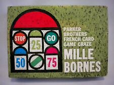 Mille Bornes 1962 Parker Brothers French Car Racing Card Game Excellent