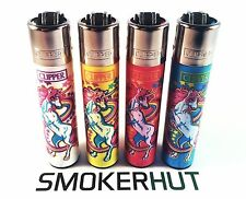 4 Rare Clipper Lighters - Magic Pretty Unicorns Collection - Complete Set x4 pcs