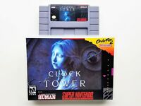 Clock Tower Game / Case Horror SNES Super Nintendo (English Translated) USA