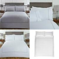 100% Cotton Hotel Quality Duvet Set Double Stitch Border Bedding With Pillowcase