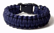 Premium 550 Paracord Survival Bracelet Navy  Hand Made USA 5/8 Plastic Buckle 8