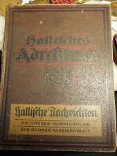 Adreßbuch von 1938 von Halle mit Plan, Hallesches Adressbuch