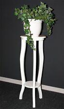 Massivholz Blumentisch rund 80cm weiß NEU Blumenhocker Blumensäule Blumenständer