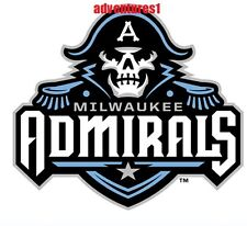 MILWAUKEE ADMIRALS NEW AHL AMERICAN HOCKEY LEAGUE TOP 11 HOCKEY LOGO STICKER!