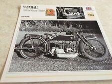 Ficha de moto colección Atlas motorbike Vauxhall 1000 cm3 4 cilindros 1924