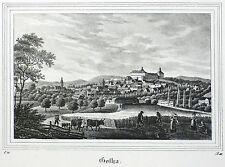 Gotha-vista general-Saxonia-litografía 1834/1835