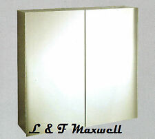 High grade Stainless Steel Shaving Mirror Cabinet with Piano Hinge 750mm