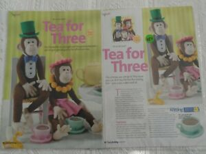 Alan Dart Knitting Patterns Tea for Three Chimps Tea Party  Parts 1 & 2