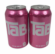 2 Tab Unopened Soda Cans TAB Cola Brand New Expiration 1/18/21