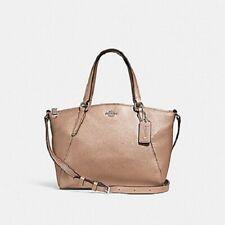 New COACH F29639 Mini Kelsey Satchel Pebble Leather Shoulder bag Platinum Gold