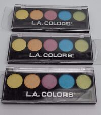 L.A. Colors Eyeshadow Palettes Multi Color Shimmer Pink Blue Green Cream S/ 3 #7
