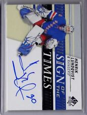 2019-20 19-20 SPA SP Authentic Sign of the times Henrik Lundqvist 1:2,266 Packs!