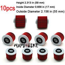 10x Oil Filters For Yamaha XTZ660 Tenere XV750 Virago XT500 SRX400 YD250 SR500
