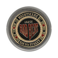 NEW Bad Beat - Nightmare on 5th Street Poker Card Guard *GOLD*