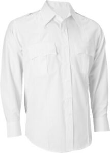 White Uniform Shirt Long Sleeve Official Officer Police Security Work