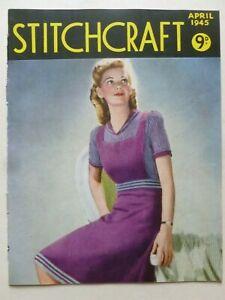 STITCHCRAFT April 1945 - Needlework Magazine