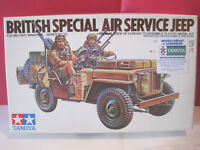 TAMIYA KIT MAQUETTE A MONTER 1/35 BRITISH SPECIAL AIR SERVICE JEEP+ KIT ARMES