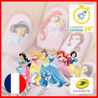 💅 LOT DE 2 Nail Art - Disney Princesses - Sticker Ongles Autocollant Eau
