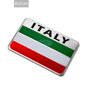 Italy National flag Aluminium Badge Decal Emblem Badge Sticker For IT Luxury Car