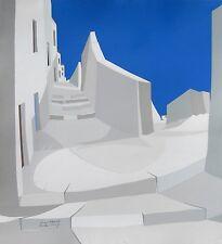 """James Harrill, """"Greek Steps"""", silkscreen ltd ed,  32""""h x 28""""w image, 1985"""