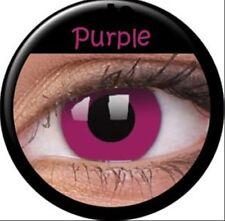 Crazy & Fun Contact Lens Lentilles Kontaktlinsen Purple Violet goblin Zombie UK