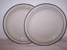 Lot of 2 Gibson Plates  Housewares Dishwasher Microwave Safe China White Black