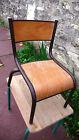 Meuble Métier Chaise Ecole Pour Enfant MULLCA 511 Métal Bois Vintage Design 1970
