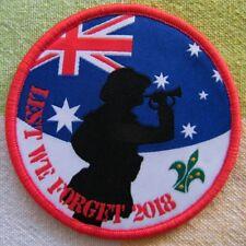 """Scouts Australia """"Lest We Forget 2018"""" ANZAC Collectors' Badge, 7.5cm diameter"""