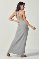 Fabletics Evelyn Maxi Dress Size L UK 14-16 Grey Heather rrp £72 DH076 FF 03