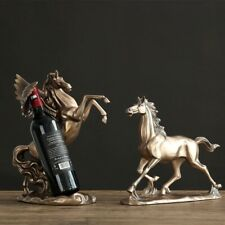 Resin Antique Brass Horse Sculpture Modern art Home decoration Accessori Ornamen