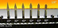 8 VHM incisore ø 3,2/20° Puntura engraving punte Fresa dell'incisore CNC PCB H0