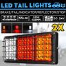 2X 24V 55 LED Anhänger Rücklicht Rückleuchten PKW LKW Anhänger Beleuchtung *