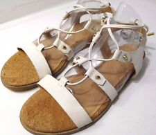 Aldo Women's Lali Dress Sandals Strappy Gladiator US 5.5 M Leather White NEW