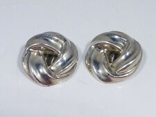 VINTAGE BARRA STERLING SILVER GORDIAN KNOT EARRINGS