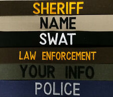 LAW ENFORCEMENT-SECURITY-TACTICAL NAME TAPE WITH HOOK FASTENER