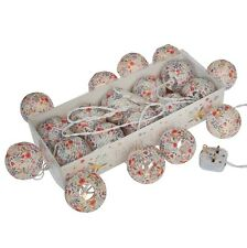 dotcomgiftshop STRING OF 10 SUMMER MEADOW PARTY LIGHTS WITH BS 3 PIN PLUG