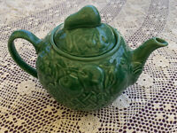 Lovely Vintage Wade England Harvest Green Fruit pottery Teapot