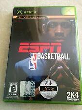 ESPN NBA Basketball (Microsoft Xbox, 2003) RARE NEW