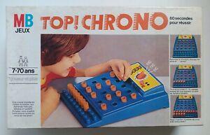 Jeu de Société Top Chrono 1977 MB Milton Bradley complet