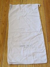 JIMMY CHOO LAVENDER  LONG THICK  FLANNEL FELT  DUST BAG  BOOTS  LARGE 23 X 11.5