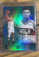 2019 Panini Chronicles Essentials Zion Williamson Green Refractor Holo RC SP